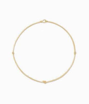 Simple knot collar, gold