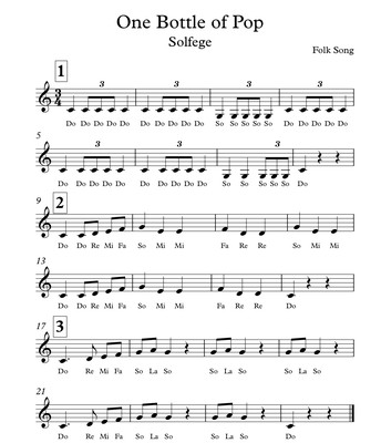 Solfege (for 3rd, 4th and 5th grade)
