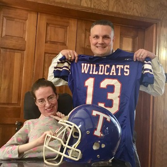 Visiting with a True Blue Temple Wildcat