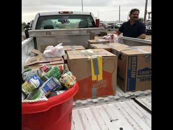 Mr. Alamaraz's truck full of can goods!