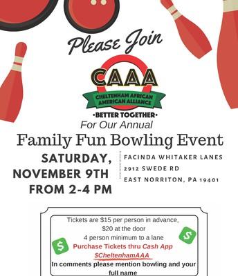 CAAA Bowling Fundraiser