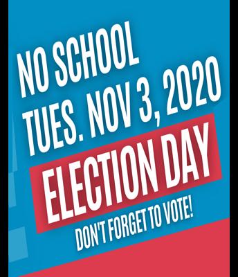 No Hybrid or Virtual SCHOOL this Tuesday!