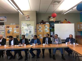 A few members of the Saudi delegation