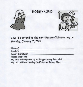 January Rosary Club with Mrs. Chirico