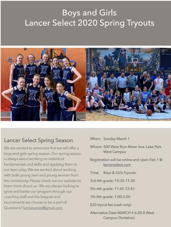 'Lancer Select' Basketball Program