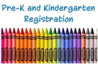 Pre-K and Kindergarten Registration - 2020-2021 School Year