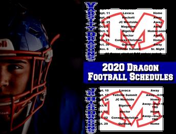 2020 Dragon Football Schedule