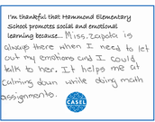 Social Emotional Learning Creates a Welcoming and Caring Climate for Students
