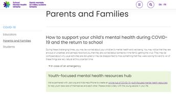 School Mental Health Ontario Website