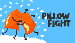 Check out our Virtual Pillow Fight video below!  We hope it puts a smile on your face like it did ours!