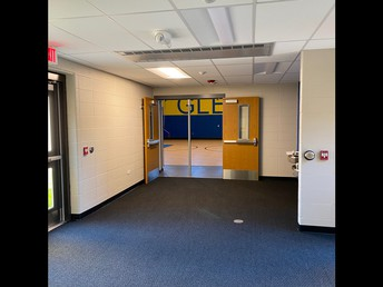 Entry from yellow hallway