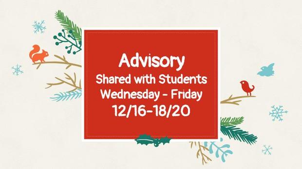 Student Advisory Notes
