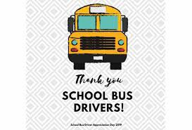 Bus Driver Appreciation Day ~ October 21st