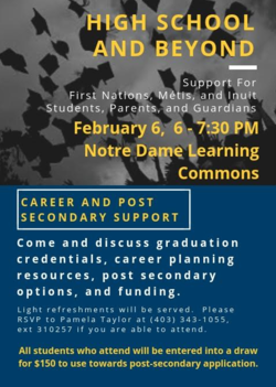 High School & Beyond- Career Planning and Support for First Nations, Metis, and Inuit Students, Parents & Guardians