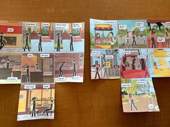 Comic Strips Created in Ms. Dorfman's Spanish Class