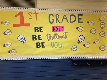 1st Grade Bulletin Board