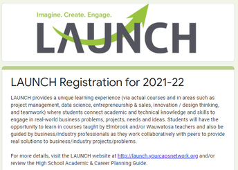 LAUNCH Registration for 2021-22