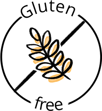 ALL FOOD ITEMS MUST BE GLUTEN FREE