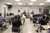 High School Students Visit Middle Schools