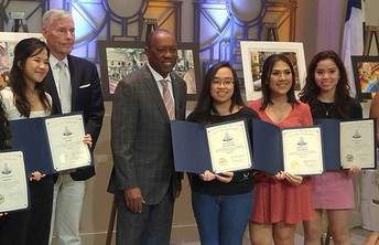 Kerr High School students won top honors in the Mayor's Art Scholarship Competition.