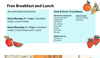 Breakfast and Lunch Pick-up/Desayuno y almuerzo de recogida