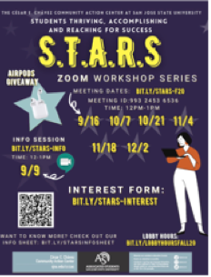 Wednesday, October 21, @ 12pm S.T.A.R.S. Community Talks:Learn from a College Professor