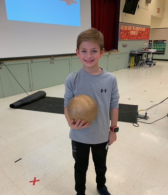 Mrs. Lowengberg's Class Received the Golden Ball for Positive Playground/PE Behavior