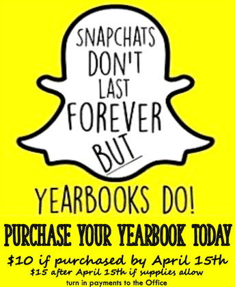 Trimester 3 :: Week 3 :: ORDER YOUR Yearbook TODAY!