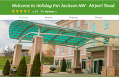 Holiday Inn Airport Rd.,  Jackson, MI 49202
