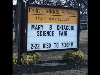 Thanks to the DMS Science Fair Advisors, Science Teachers and Parents for supporting our STEM learning in Delran!
