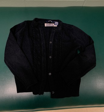 Navy blue girls cable cardigan - size 6x