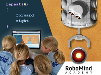 Program a virtual robot with Robomin