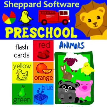 Screenshot of Sheppard Software preschool webpage