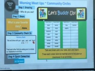 Teachers at Palm Pointe utilizing technology to enhance their Meet Ups using Sanford Harmony