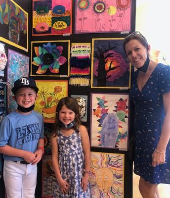 Mr. Jaxon Honea, Miss Kason Honea, and WCHE Art Teacher, Mrs. Megan Dunn