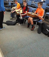Learning guitar in music