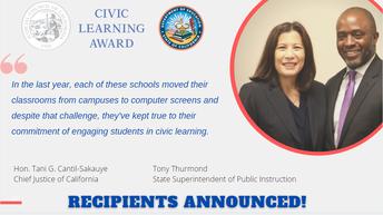 Ganadores del Premio de Aprendizaje Cívico