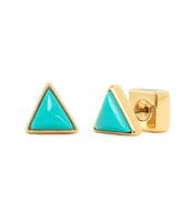 Deja Vu Studs Turquoise/Gold, Reg $39, SOLD