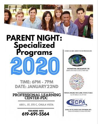 SCPA - Specialized Programs Informational Night
