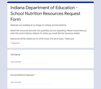 Resource Request Form