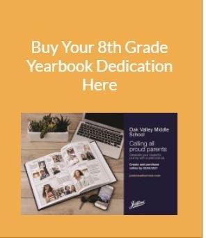 8th Grade Dedications Close Soon!