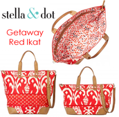 Getaway Bag - Red Ikat