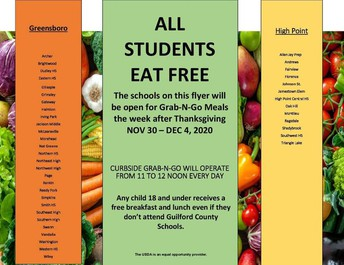 STUDENT MEALS THIS WEEK