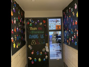 Check out Ms. Carver's Autism Awareness Door Decoration!