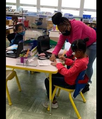 Once again, our students receive in-person instruction and support!