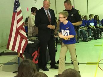 Officer Johnson & Mayor Livingston