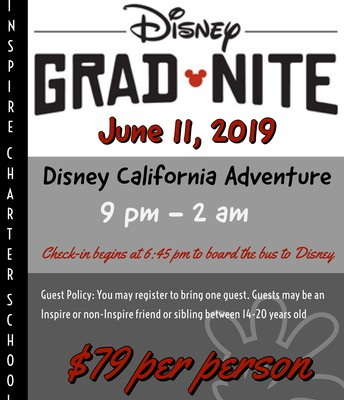 Inspire's Senior Grad Nite at Disney California Adventure!