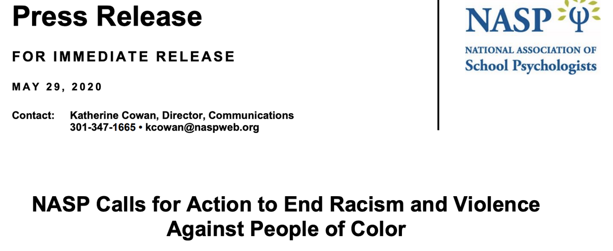 https://www.nasponline.org/about-school-psychology/media-room/press-releases/nasp-calls-for-action-to-end-racism-and-violence-against-people-of-color