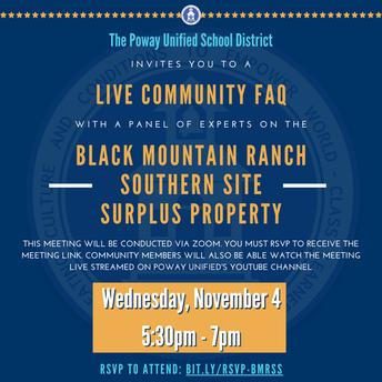 Black Mountain Ranch Southern Site - FAQs