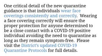 Quarantine Guidelines - Update